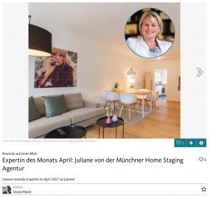 Roomido Expertin des Monats Münchner Homestaging Agentur
