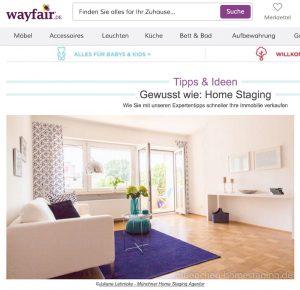 Wayfair Münchner Homestaging Agentur