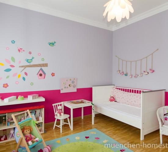 Kinderzimmer - pink nachher