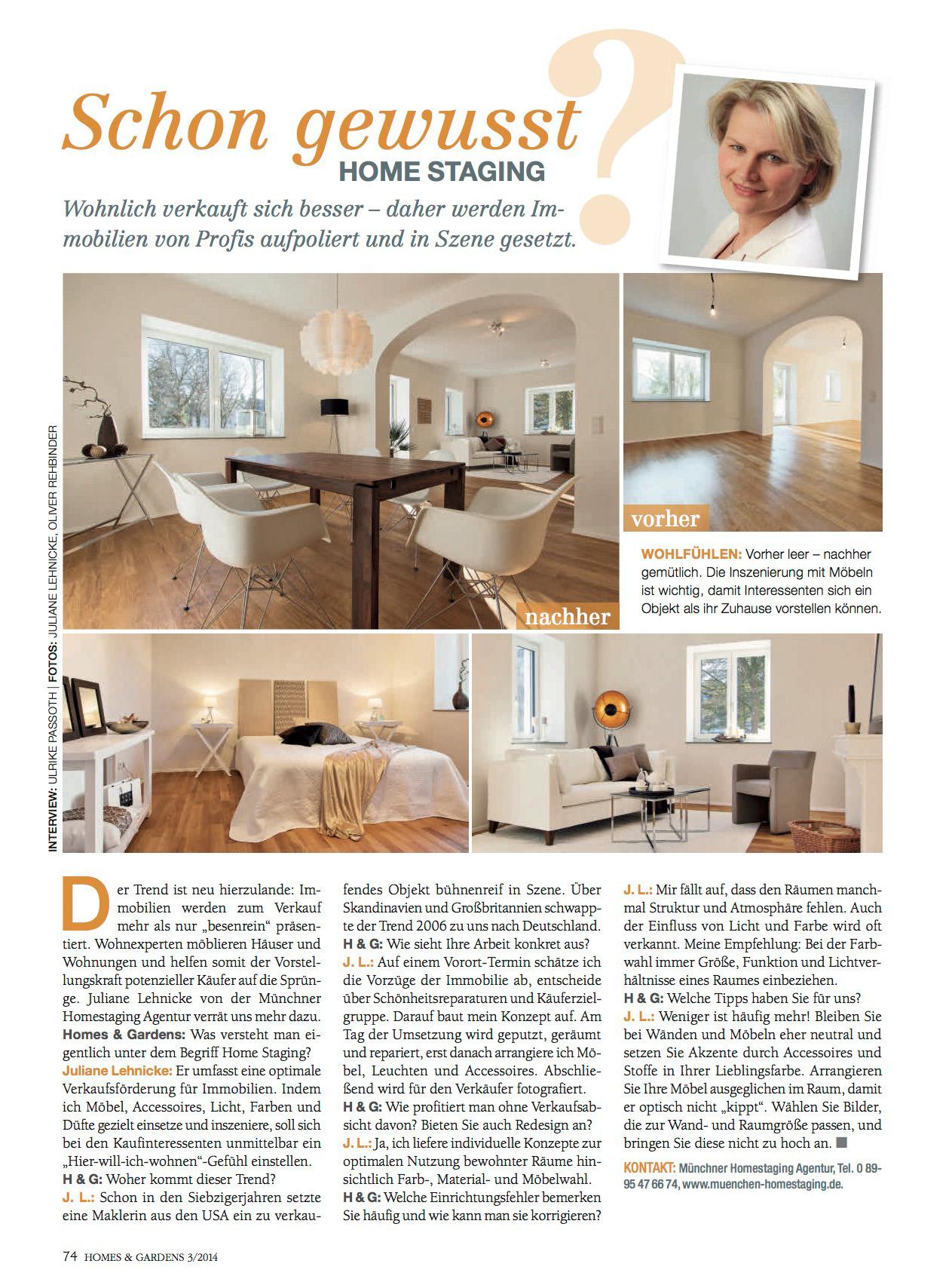 Künstlerisch Homestaging München Foto Von Ein Interview Mit Juliane Lehnicke Von Der