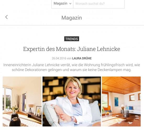 Juliane Lehnicke bei moebel.de im Interview