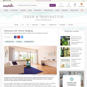 Muenchner Homestaging Agentur Wayfair
