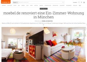 Einzimmerwohnung in München von moebel.de renoviert